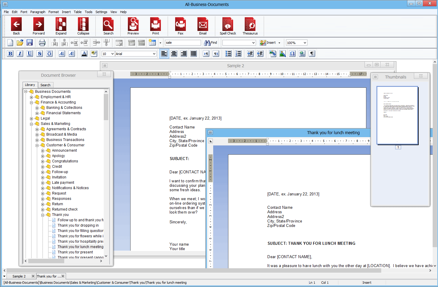 Click to view All-Business-Documents for Windows 6.2.0.114 screenshot
